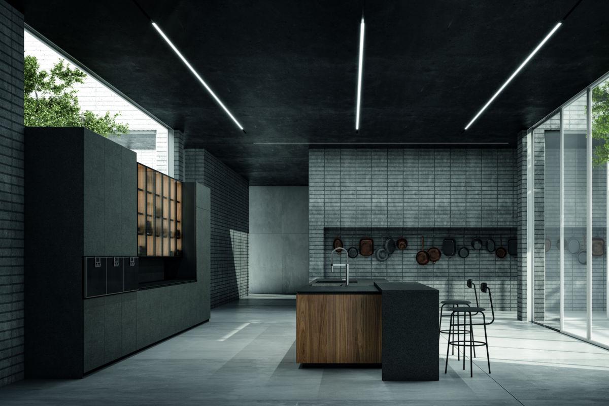 Cucina Moderna Nera - ICM Ingrossso Cucine Moderne