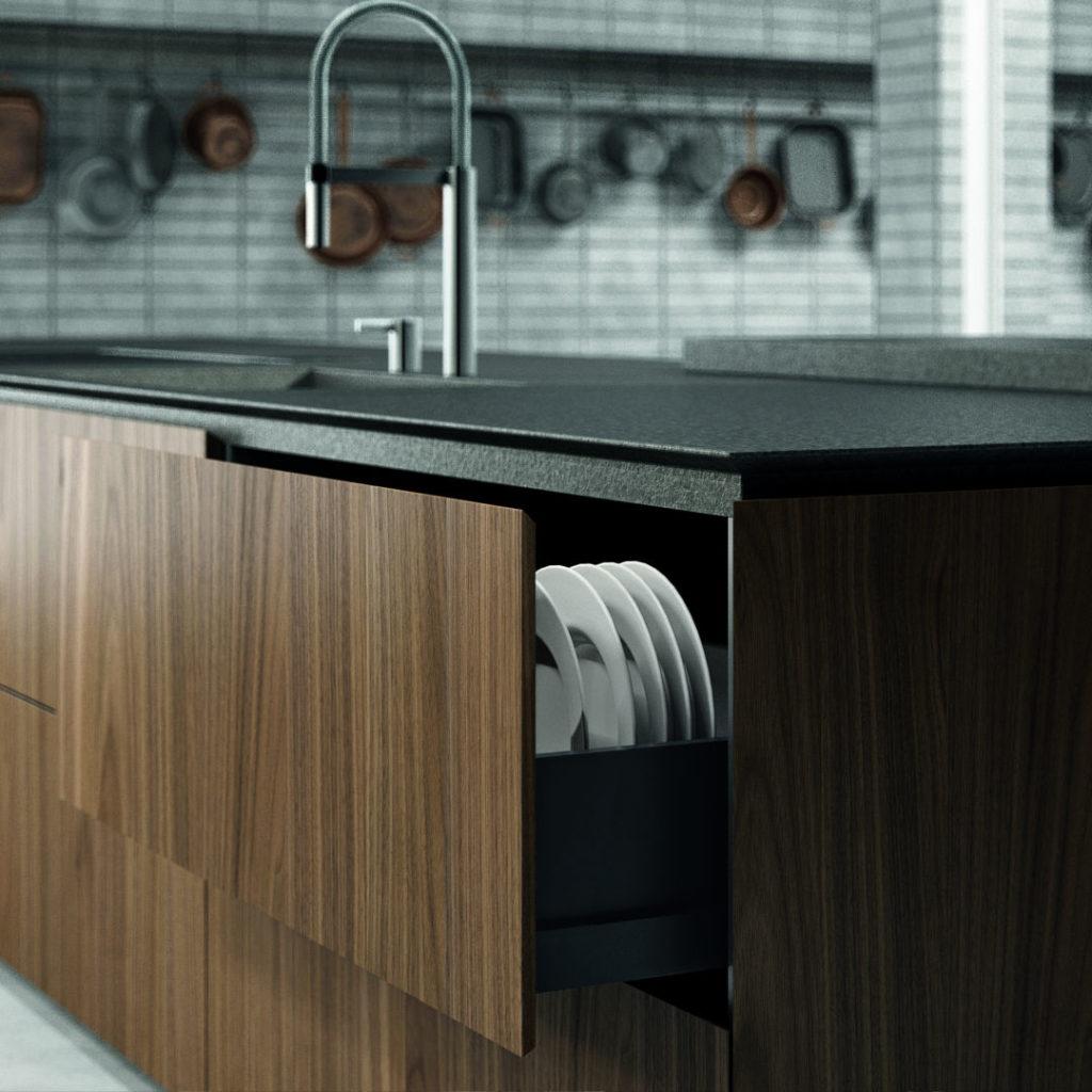 Cucina Moderna con Lavello e Lavapiatti in legno- ICM Ingrosso Cucine Moderne
