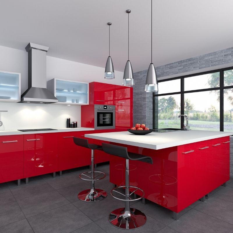 Cucina di Colore Rosso